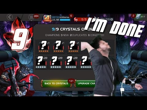 I'm So Done with This Game! 9 Five Star Crystals | Marvel Contest of Champions