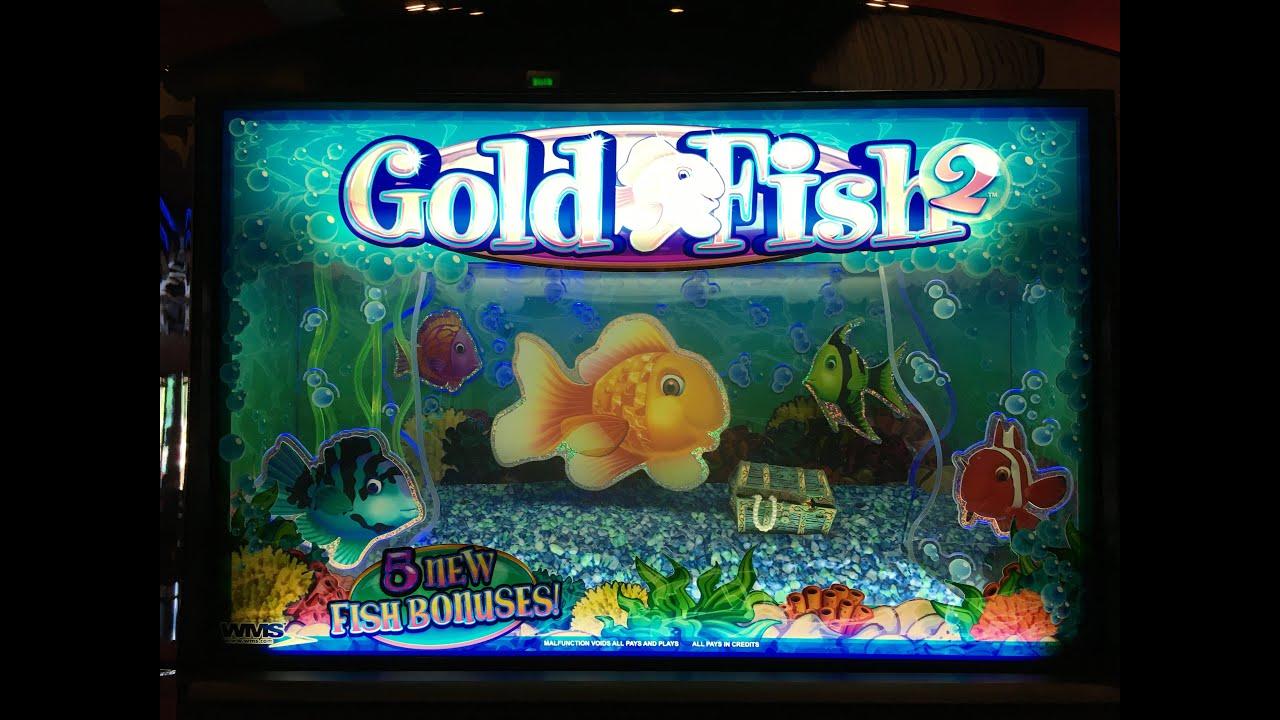 Gold fish 2 live play slot machine at harrah 39 s socal youtube for Fish slot machine