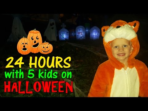 24 Hours with 5 Kids on Halloween in Washington DC