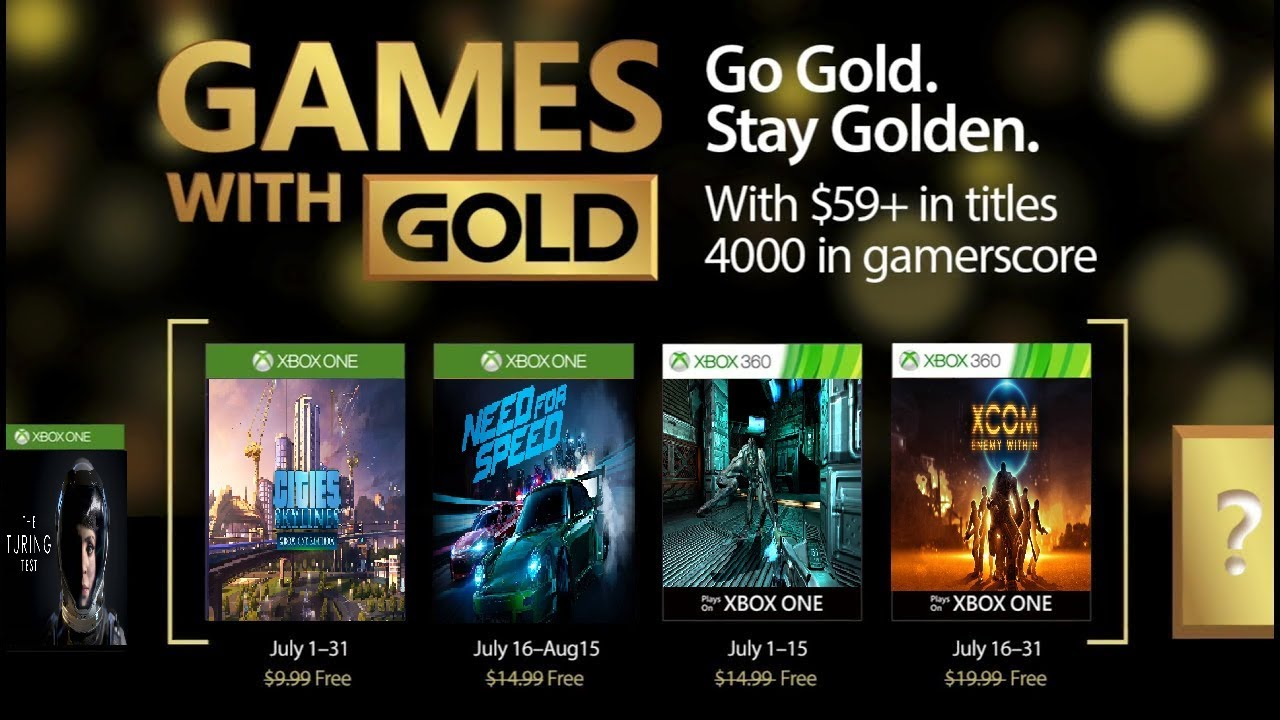 Games With Gold For November 2017 Xbox One 360