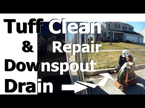 How to Find and Repair Broken Downspout Drain ROOT CLOGGED yard drain or french drain Atlantic drain