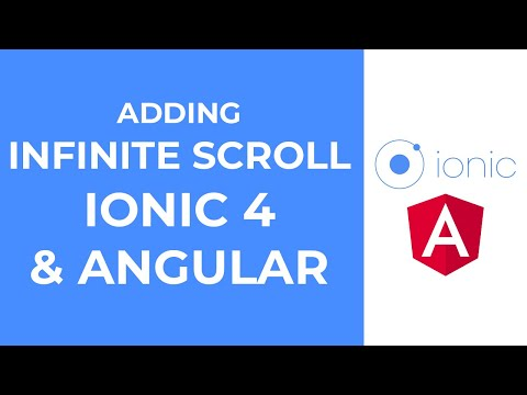 Adding Infinite Scroll in Ionic 4 and Angular Application