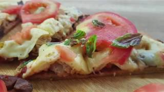 Vitalia healthy food - Здрава пица со тесто од киноа и амарант (high protein, gluten free)