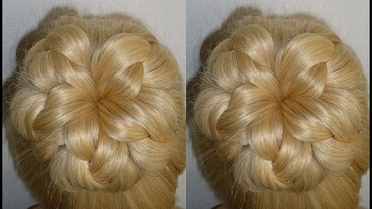 Easy And Quick Prom Wedding Hairstyle Evening Donut Hair