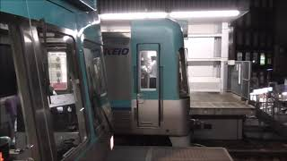 京王井の頭線 1000系1701F編成リニューアル車・1715F編成ブルーグリーン同士 吉祥寺駅にて