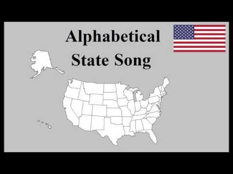 Alphabetical US State Song