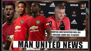 Pogba OUT! Martial OUT! Rashford OUT! All to miss Manchester United vs Arsenal!