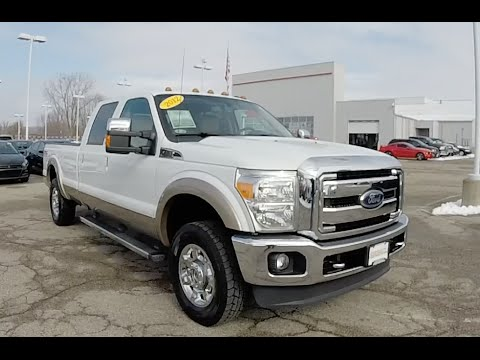 Ford F 250 Super Duty 2016 >> 2012 Ford F 250 Lariat Super Duty Crew Cab FX4 4X4 | White | Martinsville, IN | 18333A - YouTube