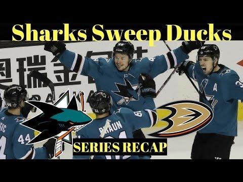 NHL Playoffs 2018 - Sharks vs Ducks Series Recap