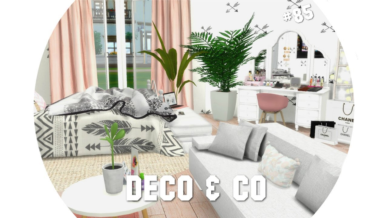 les sims 4 deco co 85 teen girl bedroom cc liste youtube. Black Bedroom Furniture Sets. Home Design Ideas