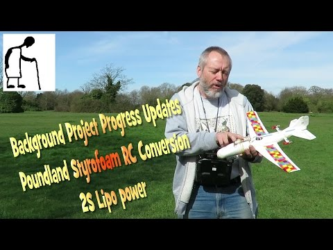 Progress Updates Poundland Glider RC Conversion 2S LiPo Power