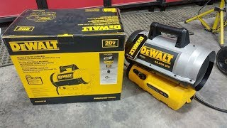 Dewalt Cordless Forced Air Propane Heater Review (It's HOT!)
