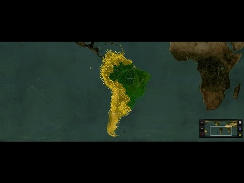 Brazil vs Spanish Latin Countries simulation