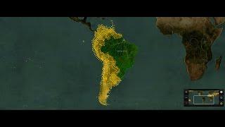 Brazil vs spanish latin countries simulation