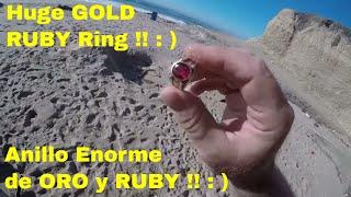 Video Sand Stone Beach GOLD & RUBY Ring ! Metal Detecting ! ORO Y RUBY ! Deteccion Metalica download MP3, 3GP, MP4, WEBM, AVI, FLV Mei 2018