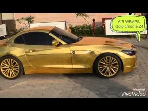 Bmw Z4 Gold Chrome Youtube