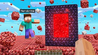 Joining HEROBRINE'S WORLD in Minecraft!