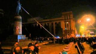 Памятник Ленину Днепропетровск, Ленинопад