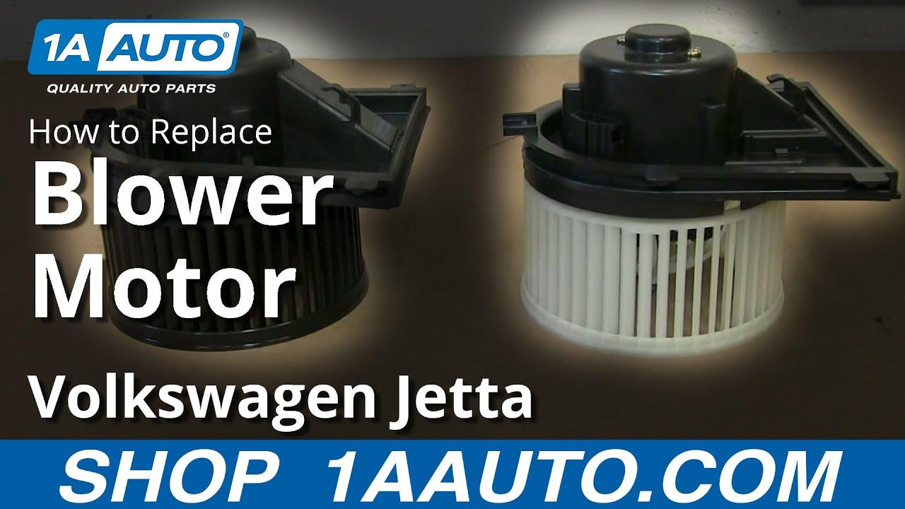 98 Jetta Fuse Box Diagram How To Replace Blower Motor 99 05 Volkswagen Jetta Youtube
