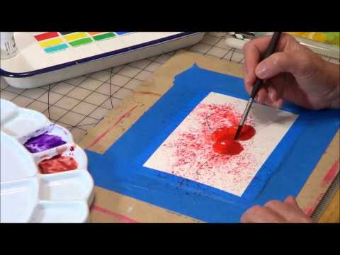 how to paint a sunflower in watercolour doovi