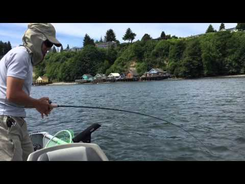 Flounder fishing in the Puget Sound