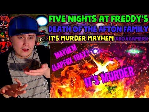 FNAF/SFM | Death of the Afton Family | It's Murder - Mayhem (LAPFOX TRAX) | Reaction