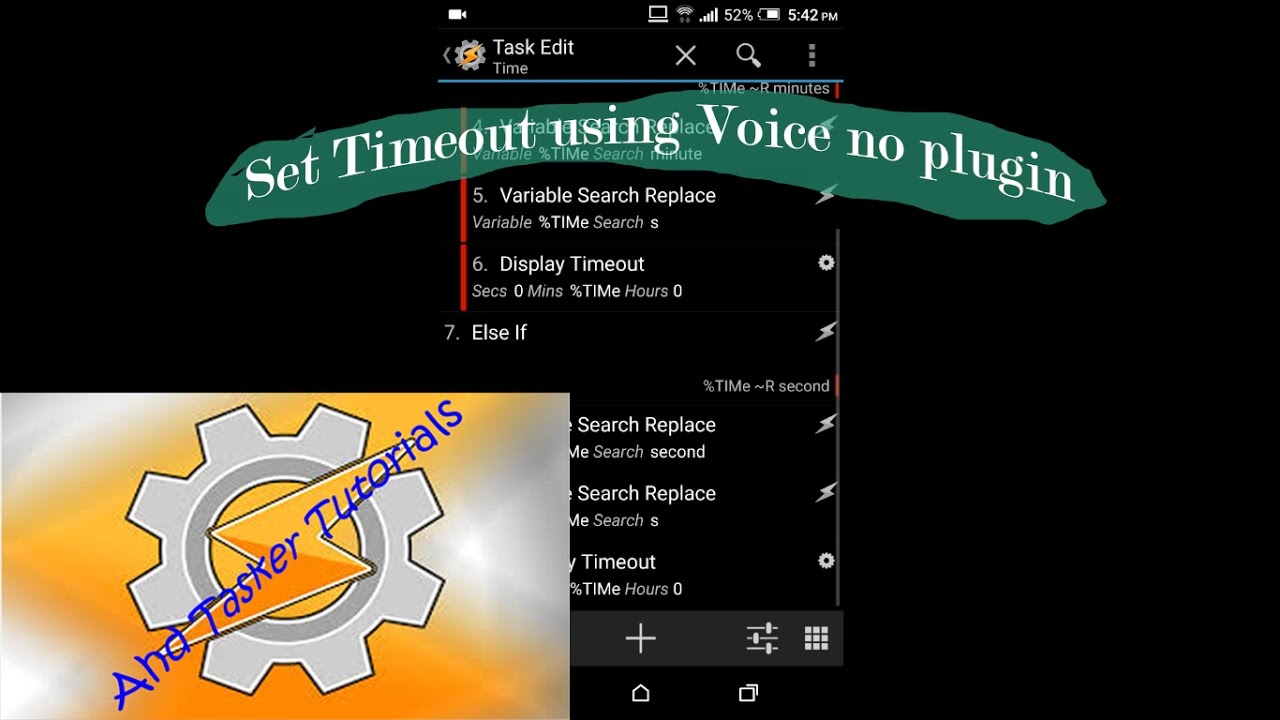 How to set screen timeout by VOICE using tasker and make app NO Autovoice  2017
