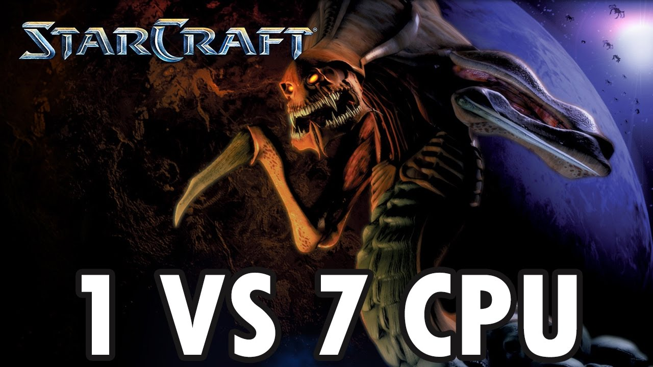 Download StarCraft Brood War - Zerg vs 7 Random Computer - Map: Big Game Hunters (Walkthrough)