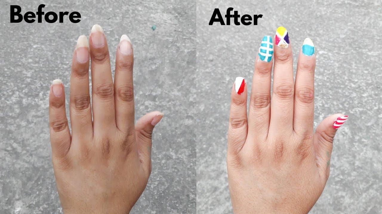 How to make 5 easy nail art hacks for beginners using tape