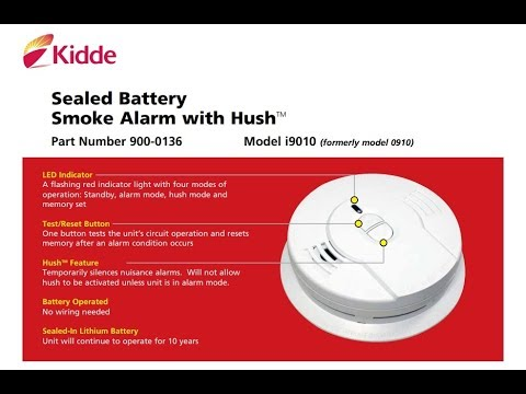 Kidde Sealed Lithium Battery Power Smoke Alarm I9010 Youtube