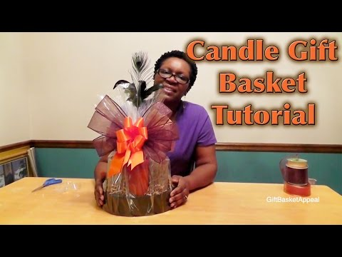 How to Make a Candle Basket - Giftbasketappeal