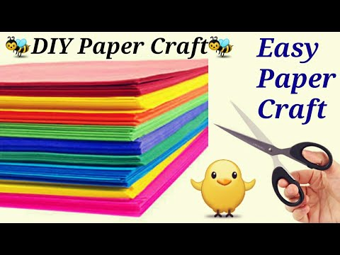 Paper craft-Easy and creative summer Camp Activities |paper art|DIY Fun Idea-rainy day craft