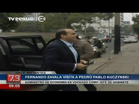 Fernando Zavala visita a Pedro Pablo Kuczynski