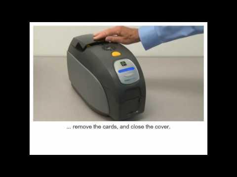 ZXP Series 3 Cleaning the Printer   Čiščenje tiskalnika