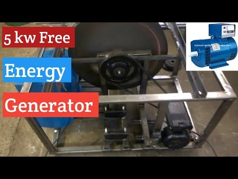 Flywheel Energy Generator /without Diesel engine and battery /Urdu /Hindi