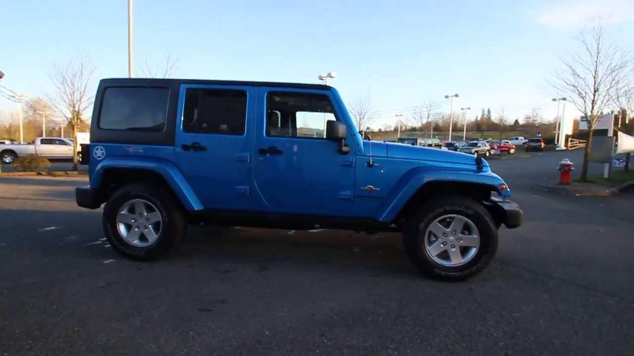 2014 Jeep Wrangler Unlimited Oscar Mike | Blue | EL165220 | Everett | Snohomish - YouTube