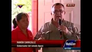 Ramón Carrizales entrega viviendas en Biruaca