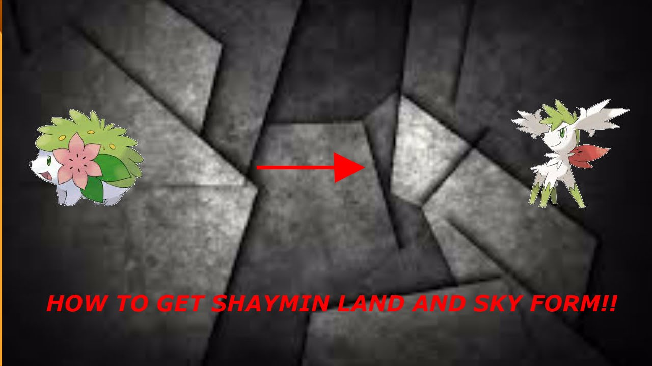 HOW TO GET SHAYMIN AND SHAYMIN SKY FORM (Pokemon Brick Bronze ...