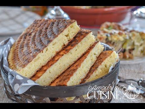cuisine algerienne: matlouh à la semoule, pain arabe مطلوع - youtube
