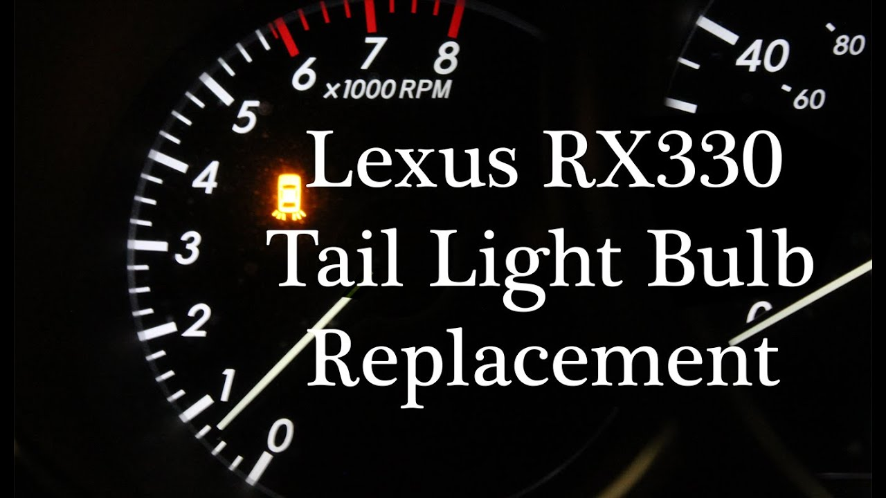 Lexus Rx330 Tail Light Bulb Replacement Fix Youtube
