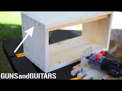 Make PERFECT Finger (box) Joints WITHOUT Special Tools!!! (Dream Tube Amp pt.1)