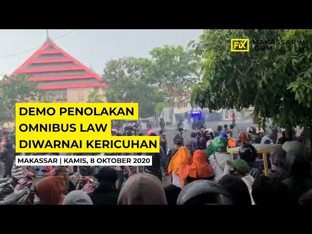 Demo Penolakan Omnibus Law Diwarnai Kericuhan