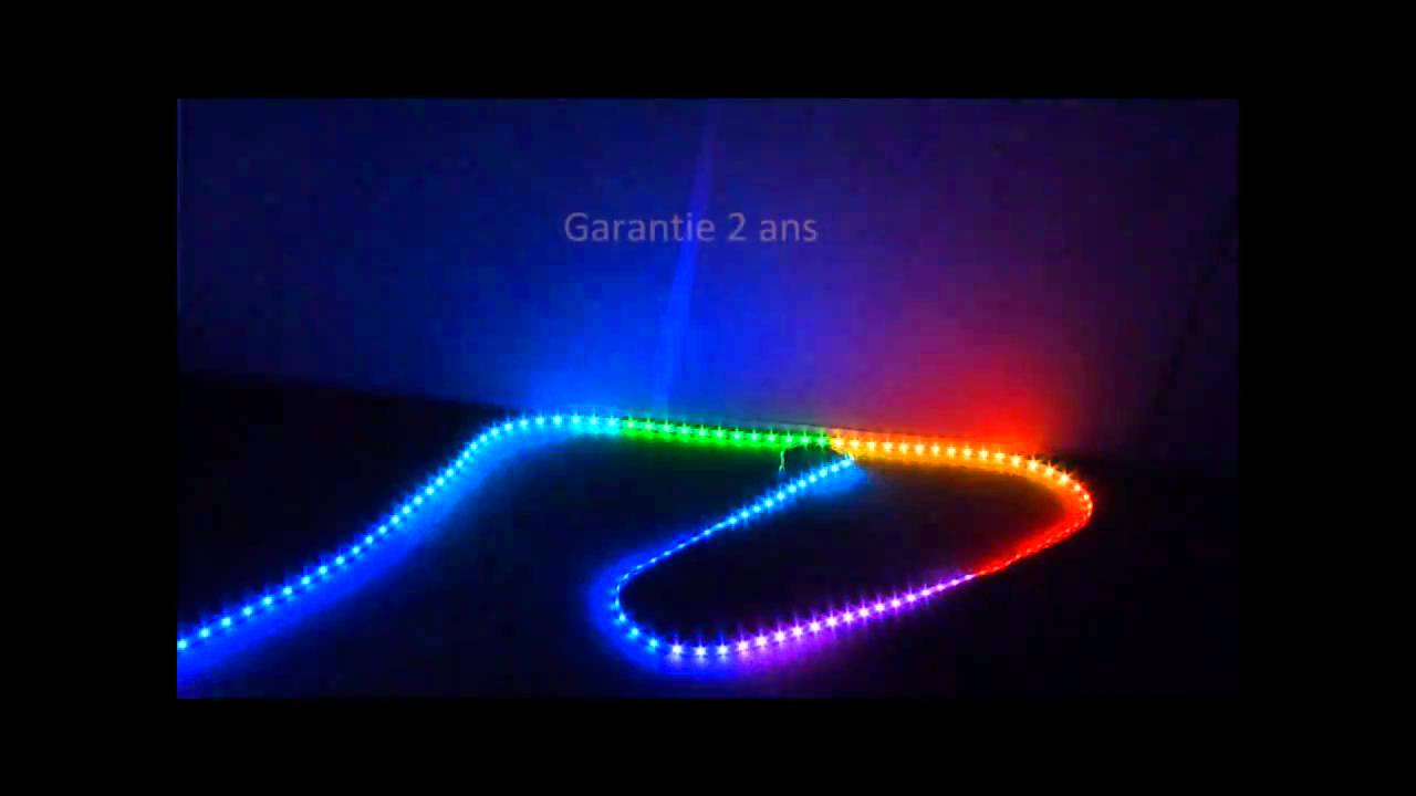 rouleau led rvb rgb strip led pixel par pixel youtube. Black Bedroom Furniture Sets. Home Design Ideas