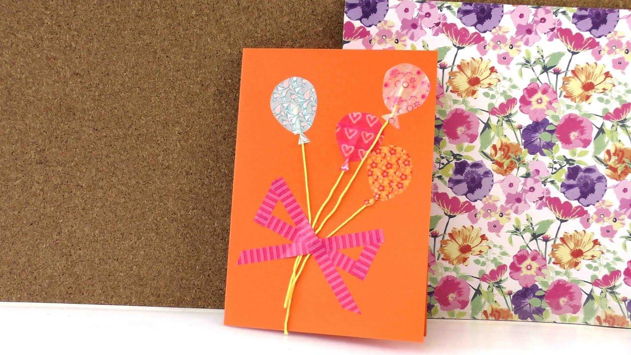 Geburtstagskarte Mit Washi Tape Selber Machen In 5 Minuten
