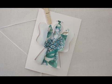 How to make a 3d angel christmas card youtube for 3d xmas cards to make