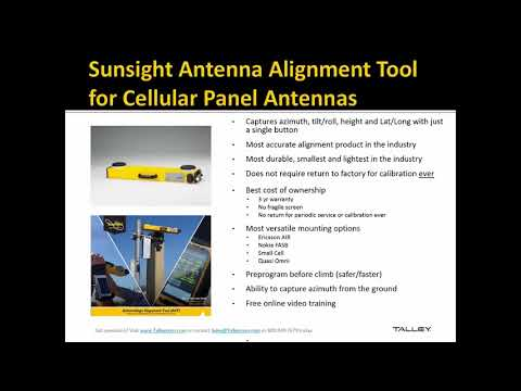 Talley Webinar Series - Sunsight Instruments 11/9/2017