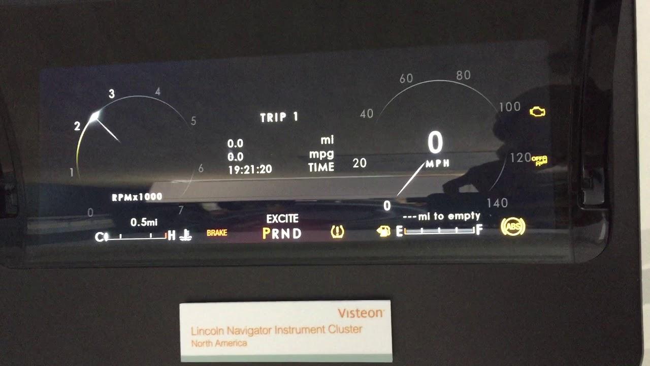 hight resolution of lincoln navigator instrument cluster