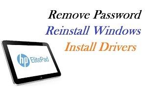 HP Elite Pad 900 - Remove Password / Reinstall Windows / Install Drivers