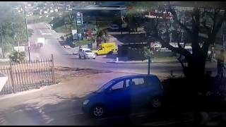 CCTV footage of truck rollover at Queensburgh industrial park