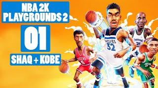 NBA 2K Playgrounds 2 Gameplay Let's Play PC Part 1 (SHAQ + KOBE)